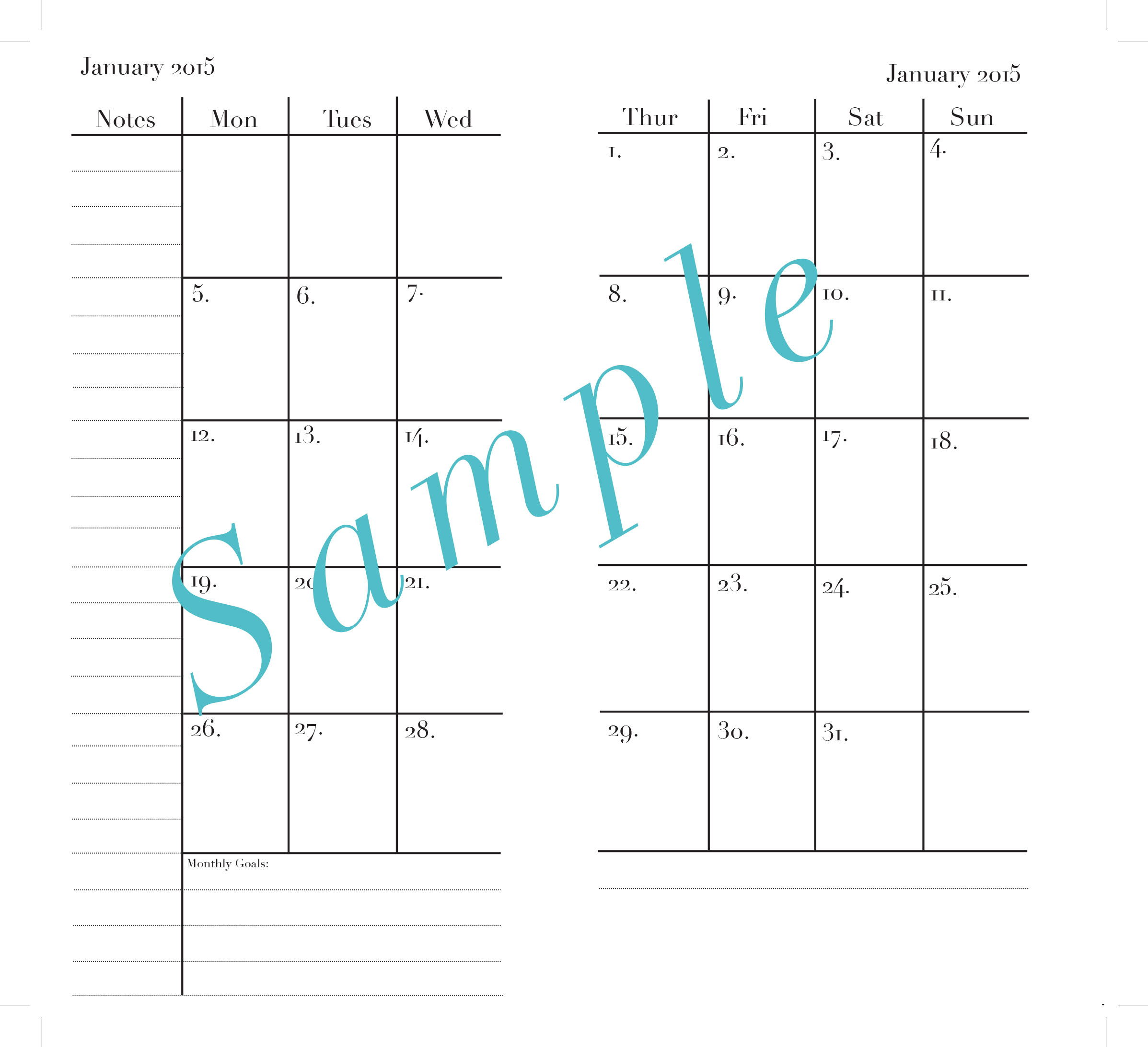 Blank Calendar With Room To Write : Calendar with room to write autos post