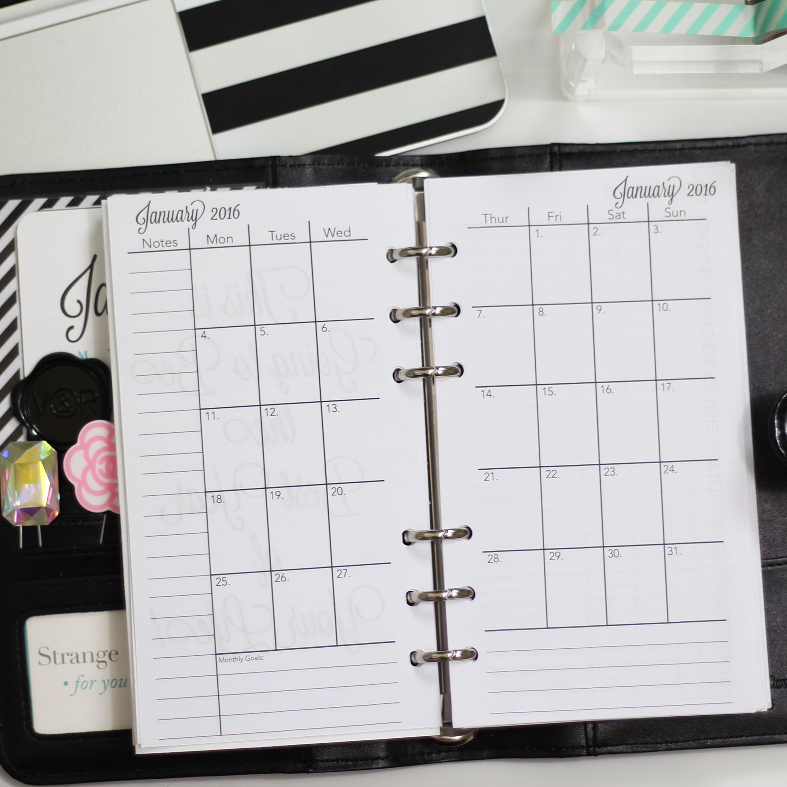 2017 CHARMED LIFE PRINTABLE PLANNER {PERSONAL SIZED} - Strange ...