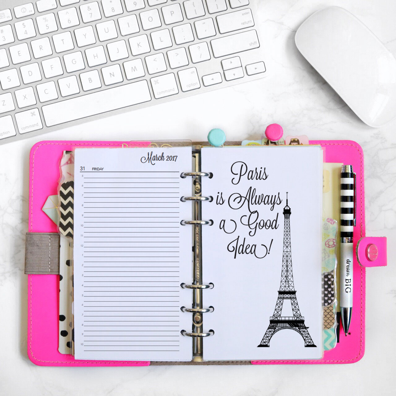 2018 charmed life printable planner personal sized for Planner design