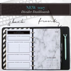 New 2017 Divider Dashboards for Planners