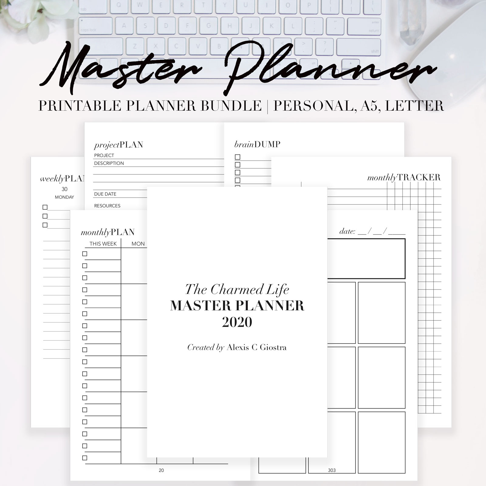 Cover Letter For Demand Planner: 2020 MASTER PLANNER {Printable Personal, A5, Letter