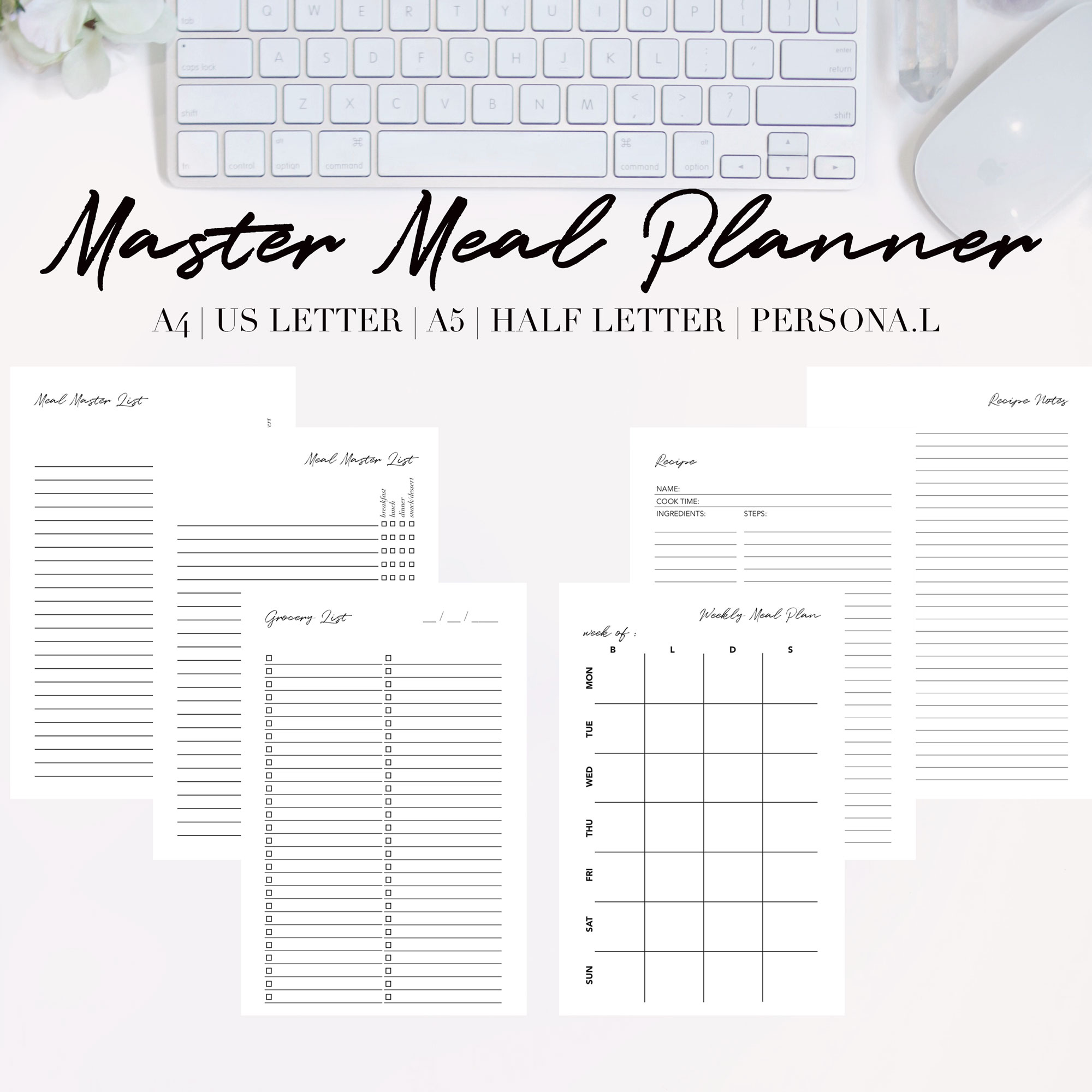 This is an image of Meal Planning Printable within shopping list