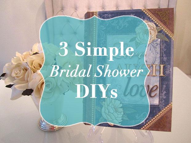 Simple Bridal Shower DIYs Strange CharmedStrange Charmed