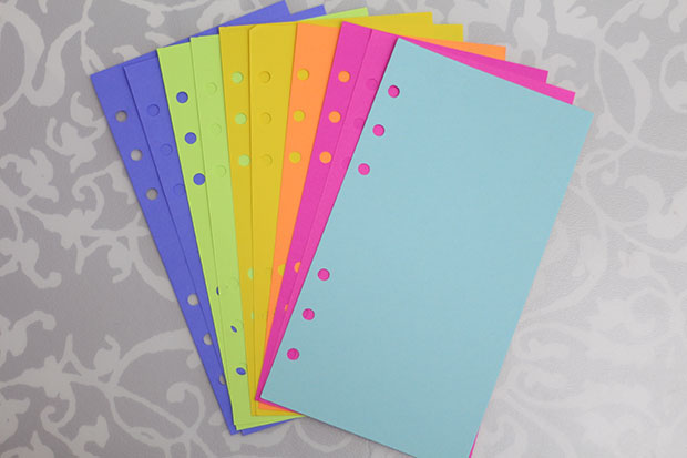 Personalize Your Planner with Colorful Paper