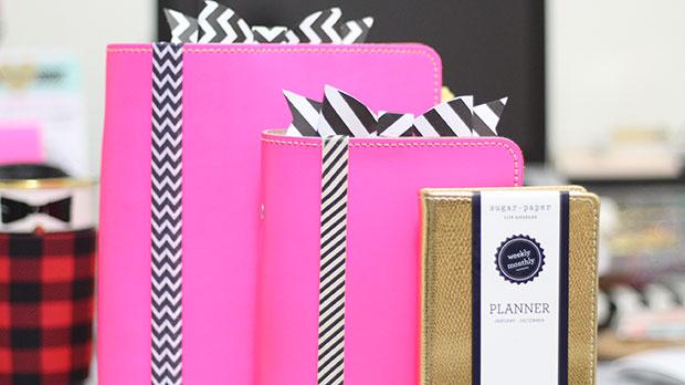 2015 Planner Setup Fluoro Pink Filofax