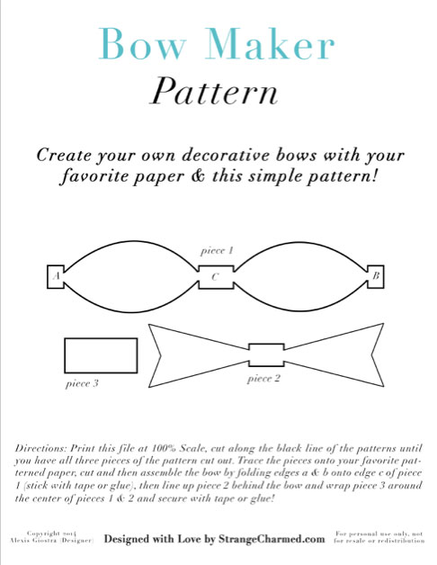 DIY Bow Making Pattern