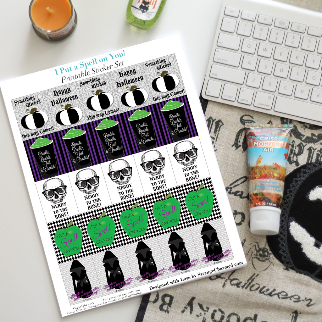 I Put a Spell on You Printable Sticker Set