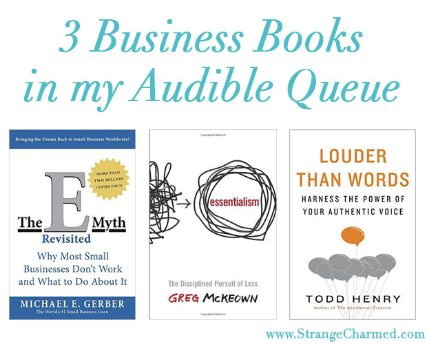 3 Business Books in my Audible Queue
