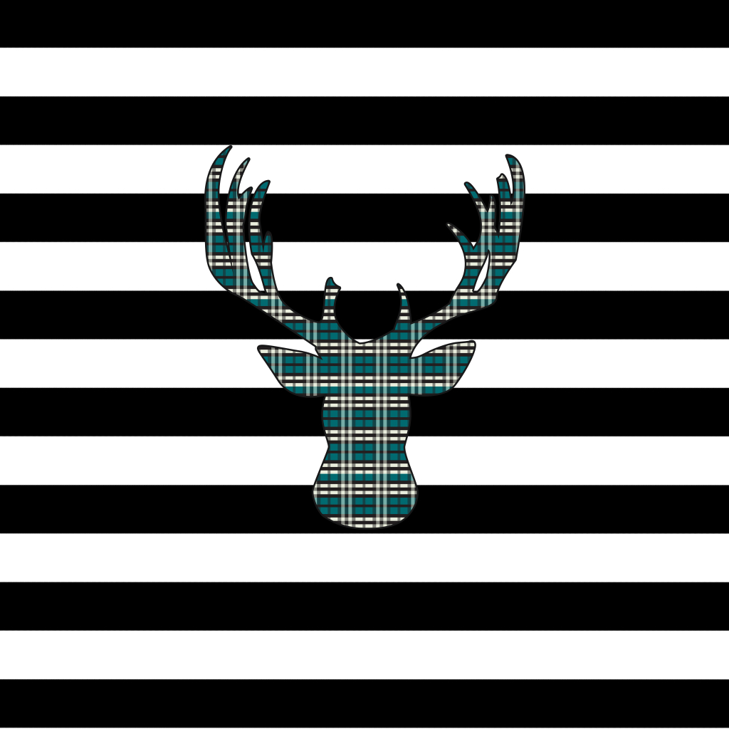 Plaid Deer iPad