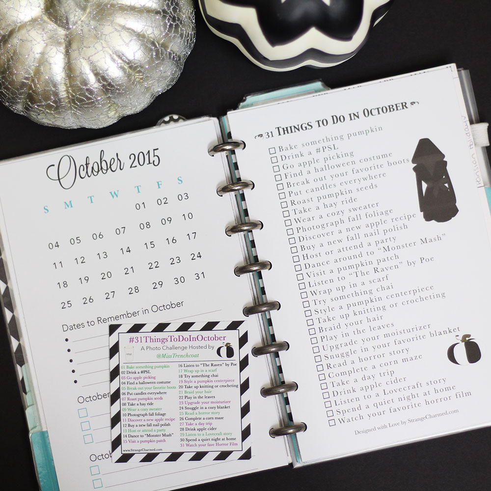 2 FREE October Filofax Printables + Photo Challenge