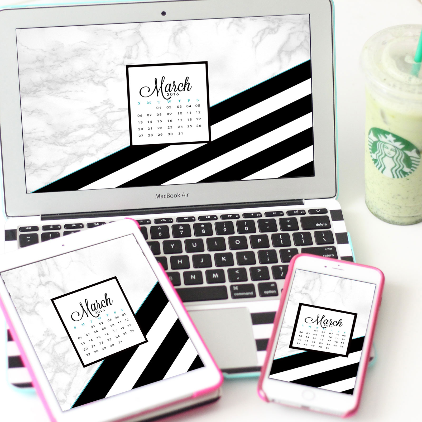 Make Your Own Luck This March With My Free Tech Wallpapers Planner Inserts