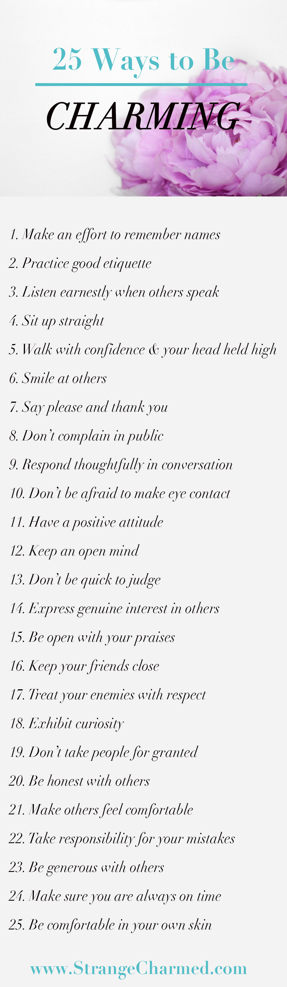 25 Ways to be Charming