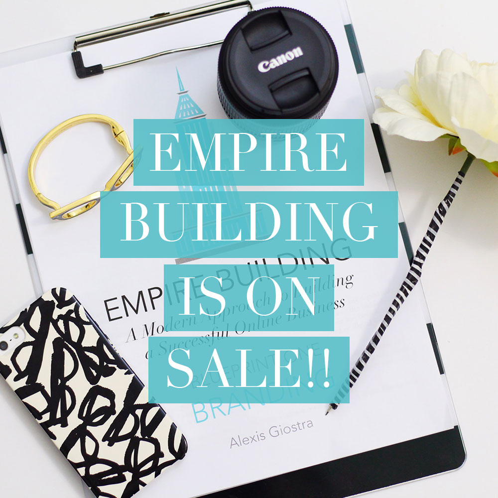 Empire Building, my online business marketing program, is on sale for a limited time!
