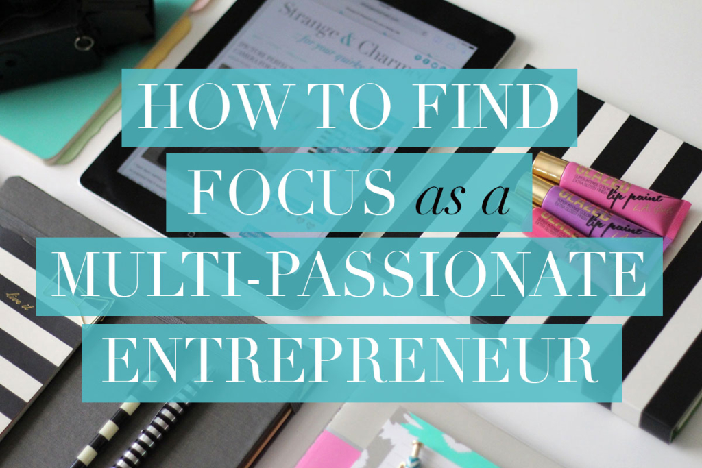 If you're a creative, multi-passionate entrepreneur, you know how hard it can be to focus on one project at a time! This simple strategy is how I find focus when my creativity is running wild!