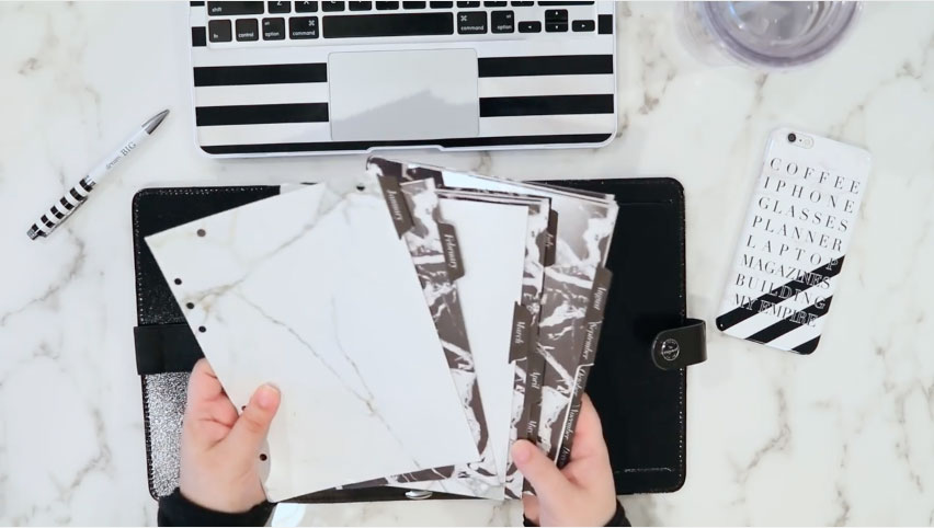 How to turn a Filofax Binder into a Desktop Filing System