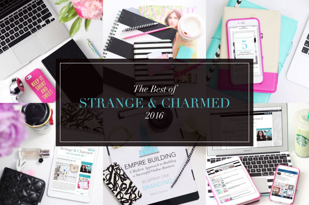 The Best of Strange & Charmed 2016 | Blog Posts, YouTube Videos & Productivity Tools