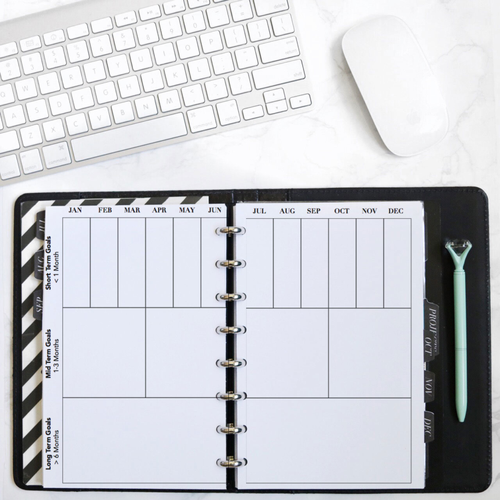 Printable Yearly Goal Tracker to Manage Projects in Your Planner