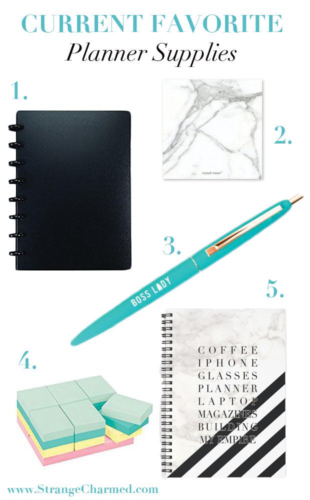 My Current Favorite Planner Supplies