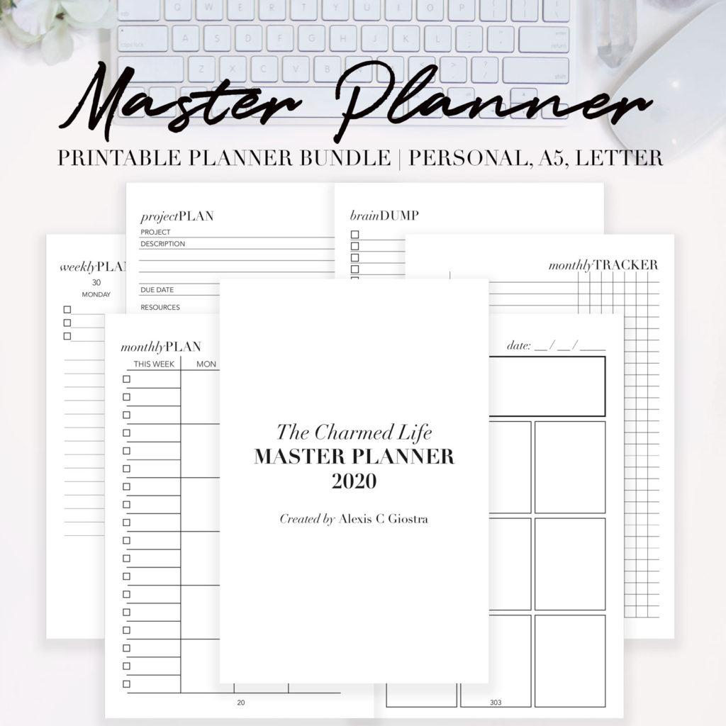 image regarding Printable Planner called 2020 Learn Planner Printable Package deal - Unusual Charmed